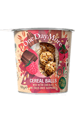 Bitter Chocolate and Raspberries Cereal Balls set OneDayMore