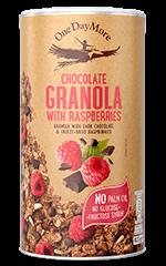 Chocolate Granola with Raspberries OneDayMore