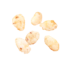 Extruded rice crisps